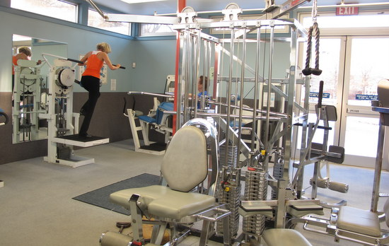 weight room at Greenbelt Aquatic and Fitness Center