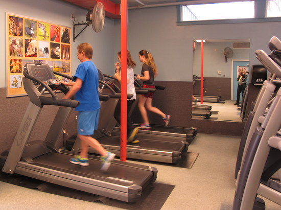 Cybex treadmills at Greenbelt Fitness Center