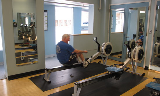 Concept 2 rowing machines at Greenbelt Fitness Center