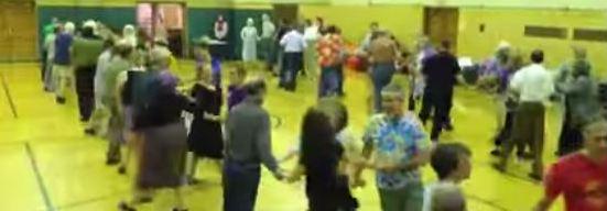 Contra dancing in Greenbelt Community Center