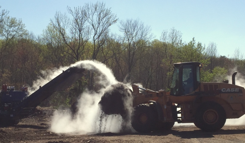 composting and mulching on Northway in Greenbelt