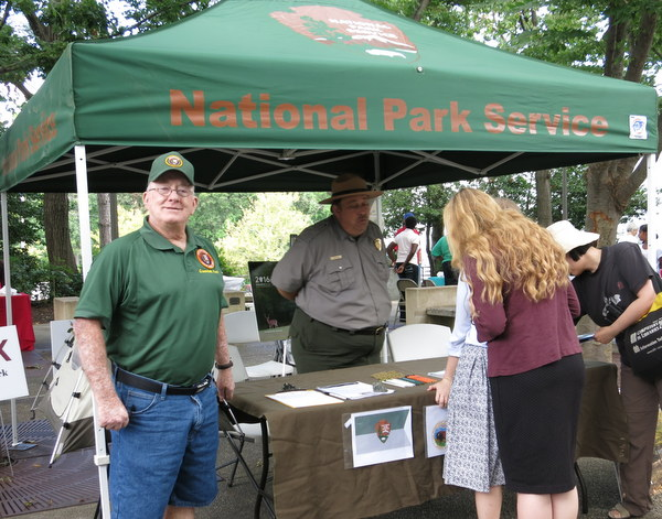 Volunteer Mike Maxson representing Greenbelt National Park