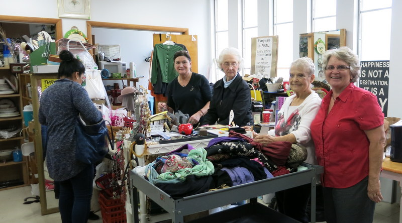 Volunteers at the Holy Cross Lutheran Church Thrift Shop