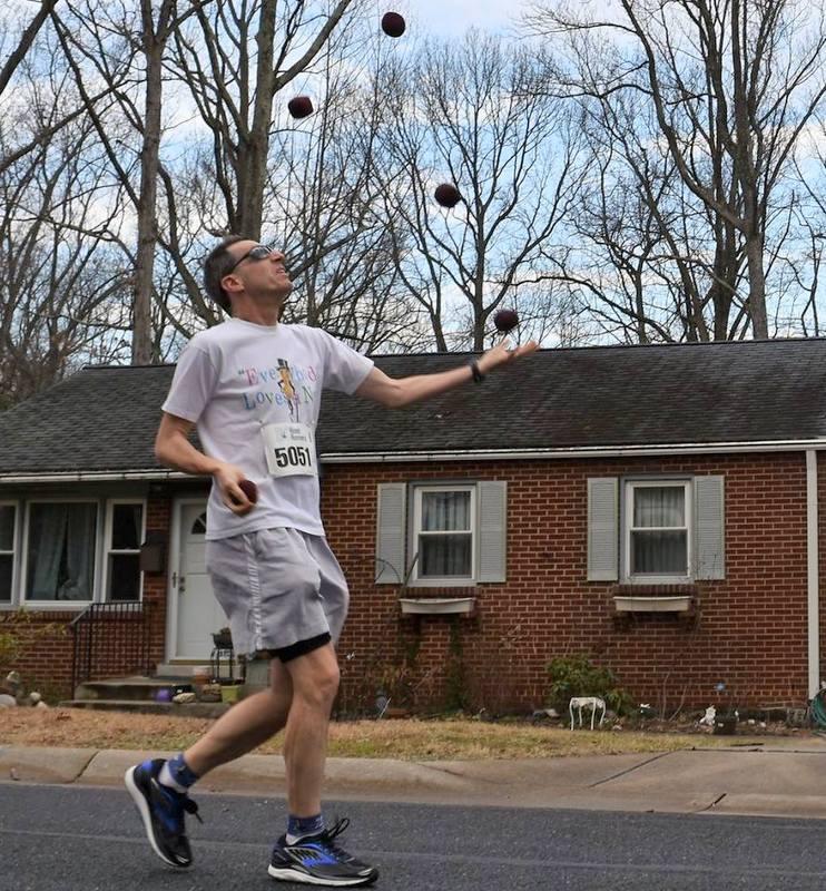 DC Road Runners George Washington Marathon in Greenbelt juggling