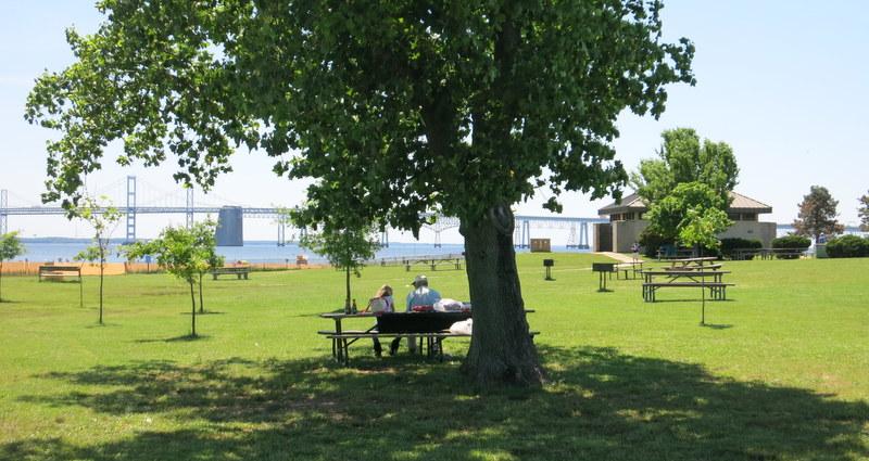 Sandy Point, Maryland picnic