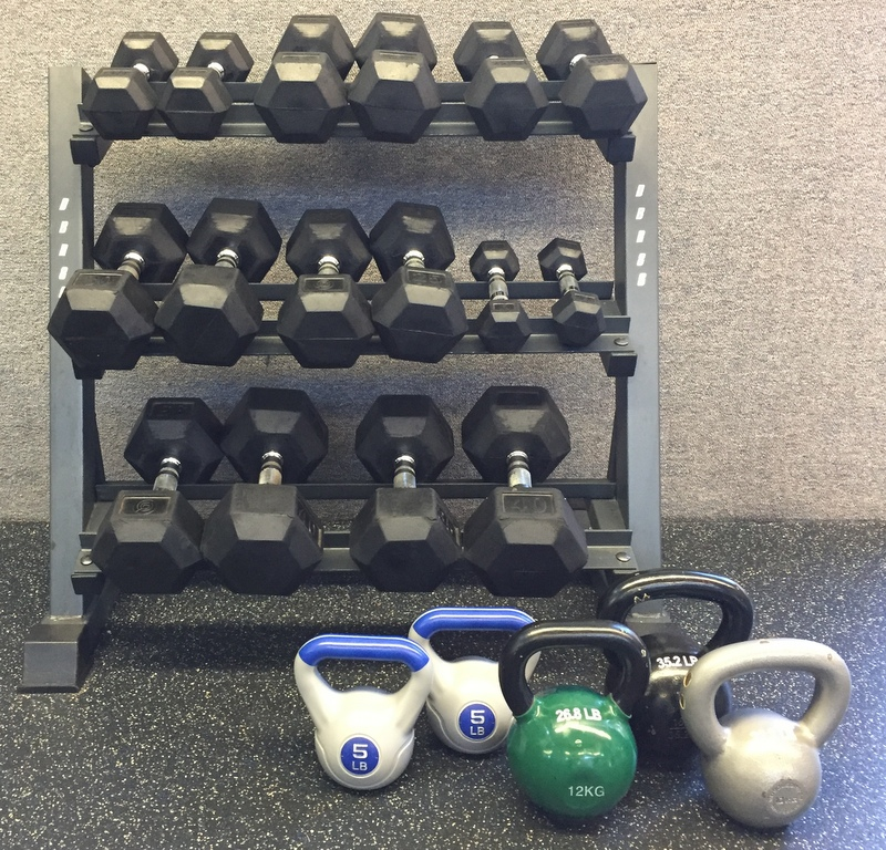 free weights at Greenbelt Fitness Center