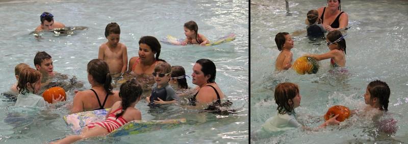 Pumpkin swim and cancer awareness event at Greenbelt Aquatic Center