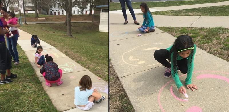 Sidewalk art contest at Greenbelt Aquatic Center