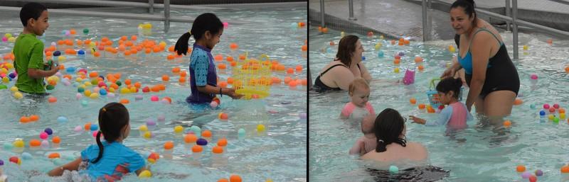 underwater egg hunt at Greenbelt Aquatic Center