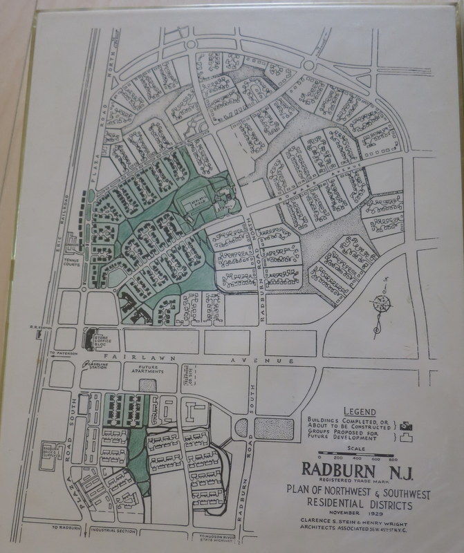 map of Radburn, New Jersey