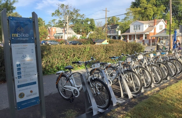 mBike station on Berwyn Road in College Park
