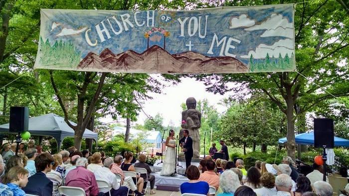 Wedding in Roosevelt Center, Greenbelt