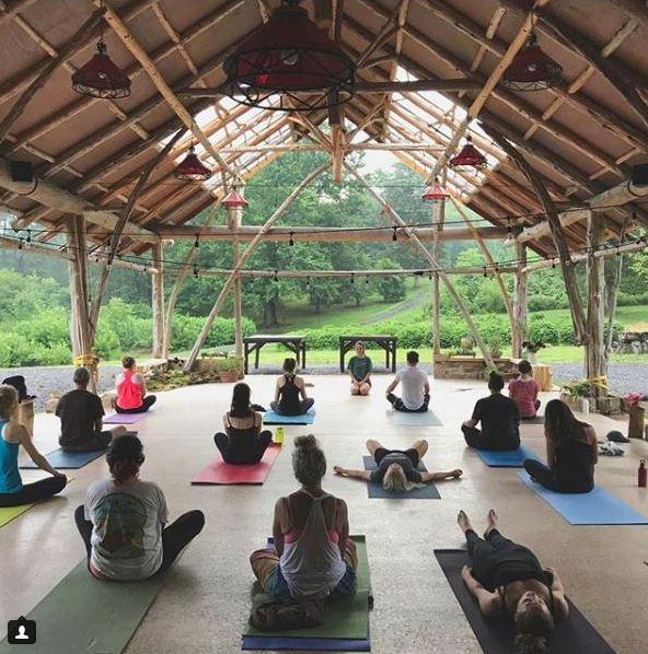Yoga at Wollam Gardens in Virginia