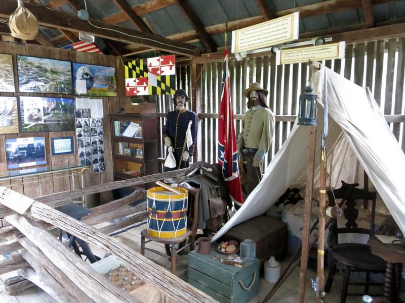 Civil War room at Dr. Mudd Home Museum
