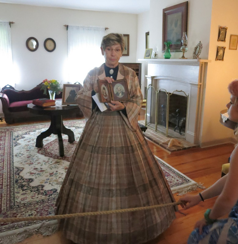 Docent Kathy Labukas at Dr. Mudd Home Museum