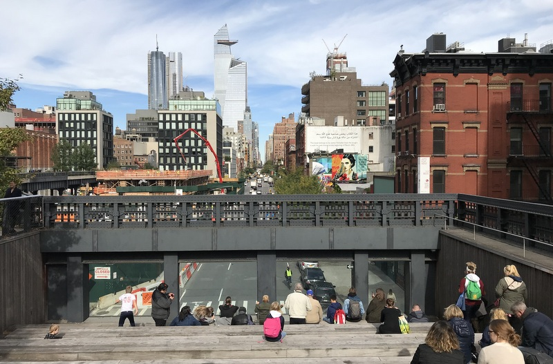 Overlook from High Line in NYC