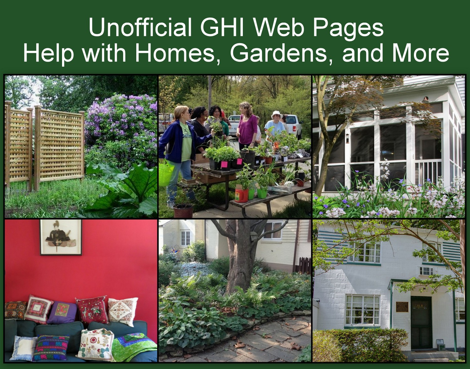 Homes, gardens and people of Greenbelt Homes Inc