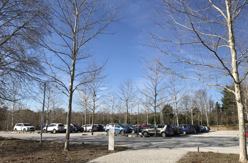 Parking lot, Glenstone Museum