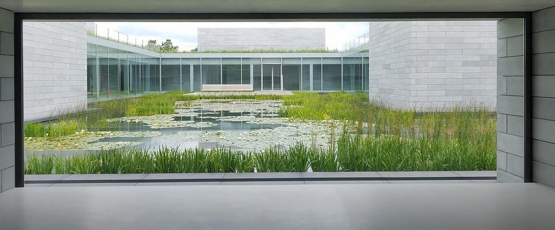 View of water court at Glenstone Museum