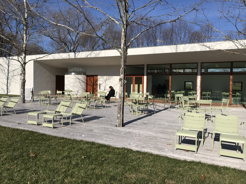 Outdoor cafe at Glenstone Museum