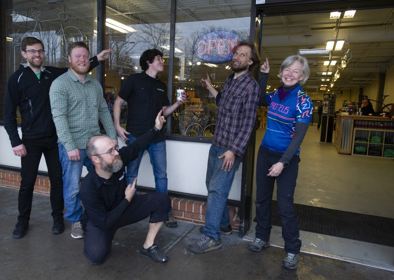 Owners and employees of Proteus Bicycles