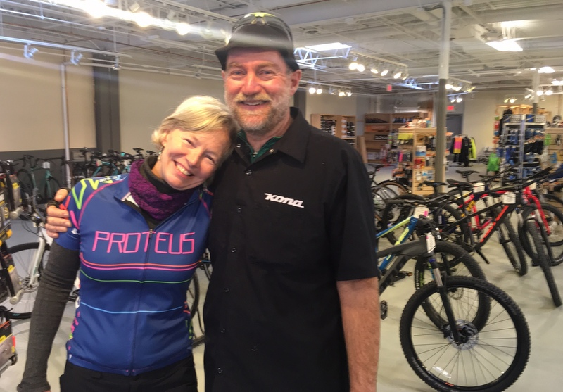 Laurie and Jeff Lemieux at Proteus Bicycles