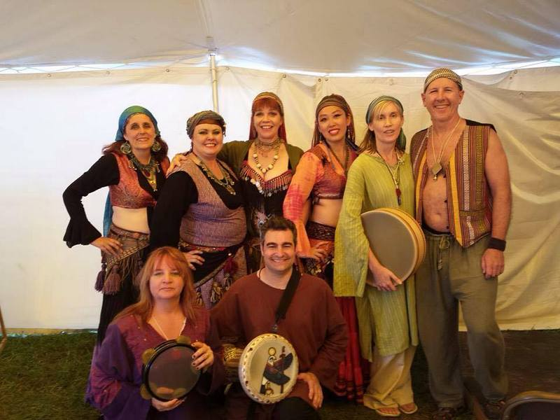 Back stage with dancers and drummers at Pennsic, the medieval-themed festival in PA