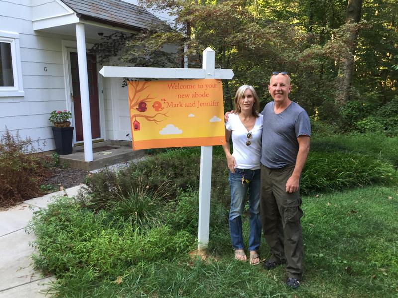 Mark Cheater and Jennifer Laemmer and their Greenbelt home
