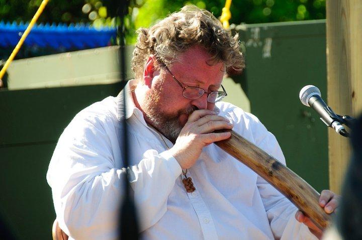 Tim Saurwein playing the Didgeridoo