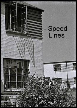 speed lines on brick homes in Greenbelt