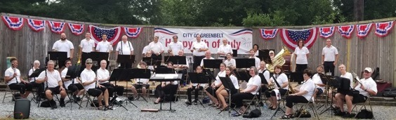 Greenbelt Concert Band in Buddy Attick Part for July 4th