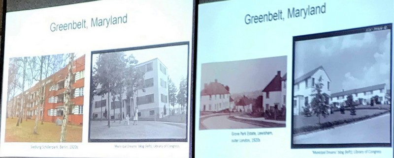 Images from Amanda Kolson Hurley talk about Radical Suburbs