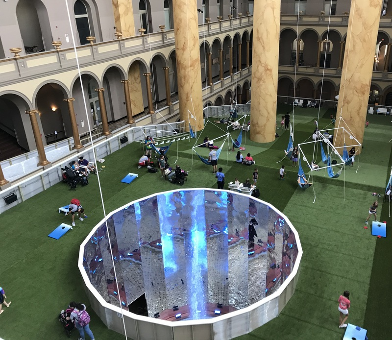 Lawn exhibit at National Building Museum