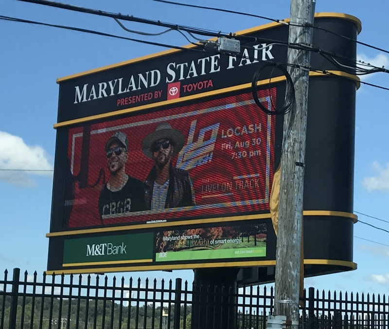 Maryland State Fair sign
