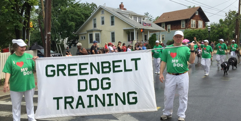 Greenbelt Dog Training in Takoma Park July 4 parade