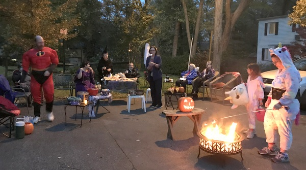 Halloween gathering in 5 Court Ridge Road in Greenbelt