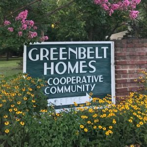 Greenbelt Homes Cooperative Community entrance sign