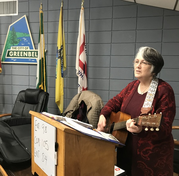 Celestine Ranney-Howes is the music minister for the Catholic Community of Greenbelt.