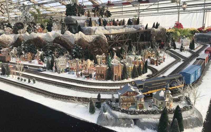 Train set at Homestead Gardens