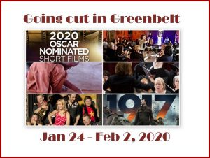 Going out in Greenbelt* for January 24 - February 2