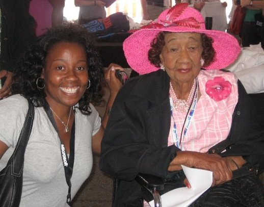 Nicole Williams with Dorothy Height