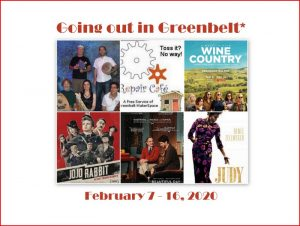 Going out in Greenbelt* - February 7 to 16