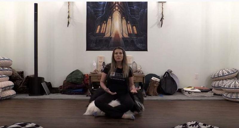Padma Wine in her Shamanic Dance studio