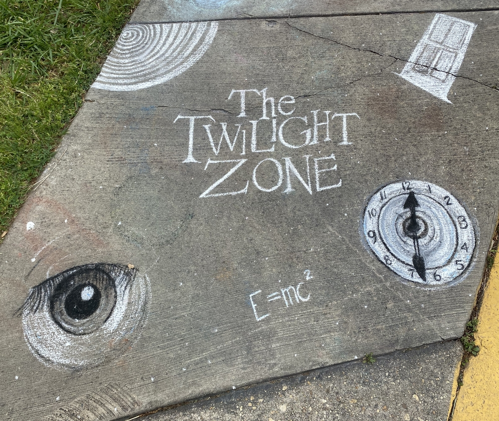 Sidewalk chalk art Old Greenbelt