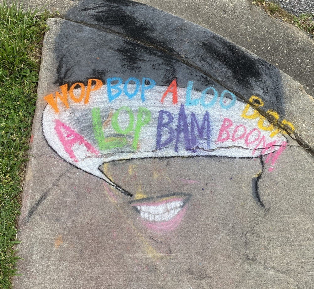 Sidewalk chalk art Old Greenbelt - Little Richard