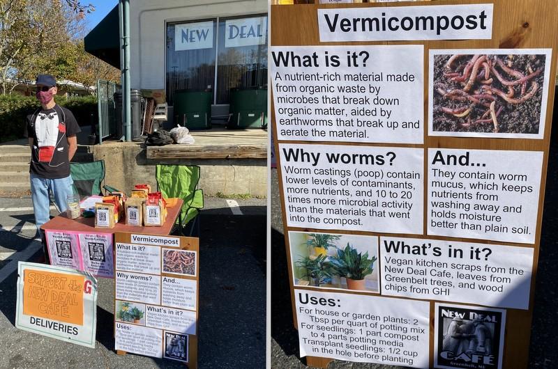 Vermicomposting display at Greenbelt Farmers Market