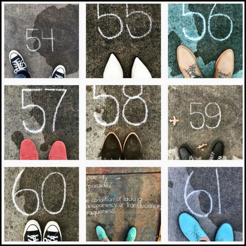 Instagram photos of shoes with countdown to Inauguration.