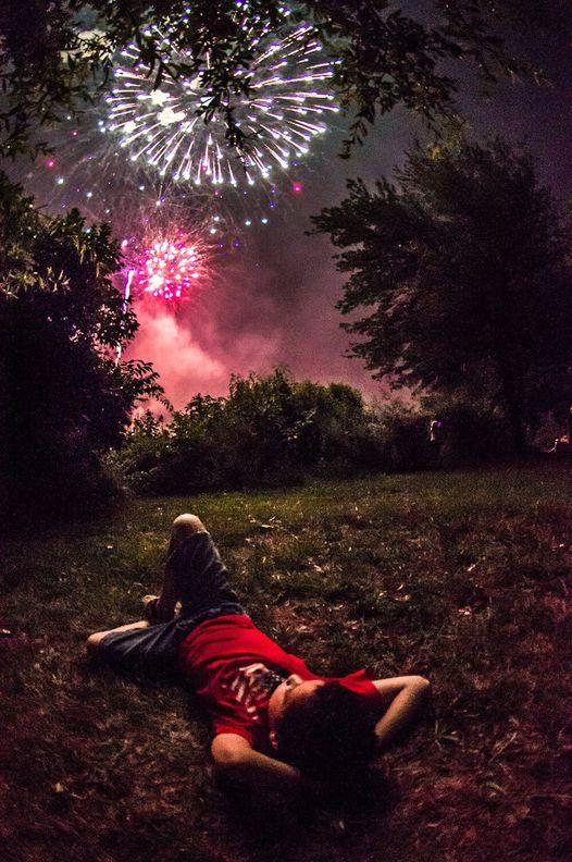 Greenbelt fireworks photo by Nate Jackson